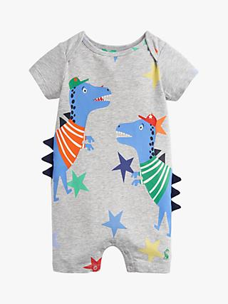 862e7e9cd481 Baby Joule Dinosaur Patch Applique Romper