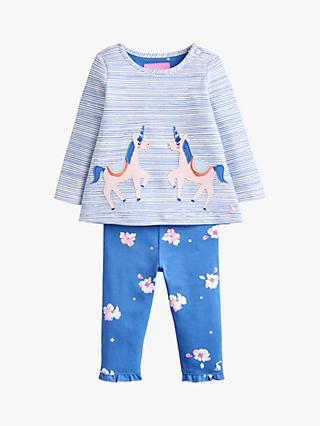 Baby Joule Poppy Top and Leggings Set, Blue