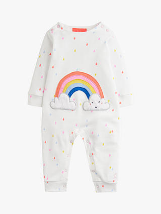 Buy Baby Joule Gracie Jersey Applique Babygrow, White, 12-18 months Online at johnlewis.com