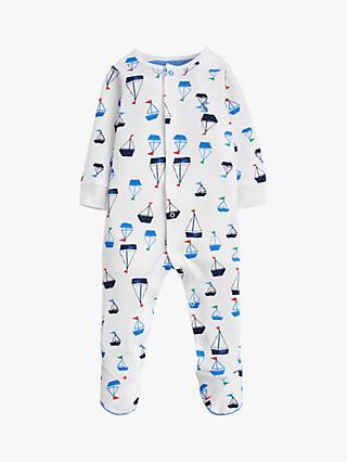 f81df1264d8 Baby Joule Ziggy Boats Sleepsuit