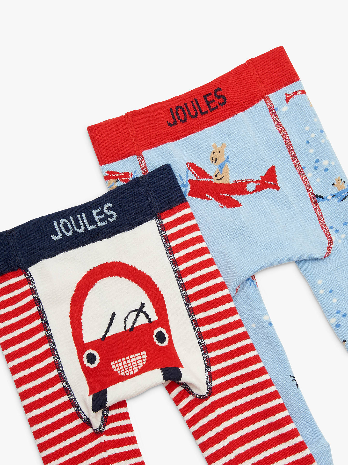 BuyBaby Joule Lively Legs Car Leggings, Pack of 2, Red/Multi, 0-6 months Online at johnlewis.com