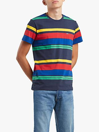 Levi's Original Short Sleeve Stripe T-Shirt, Patch Slurp