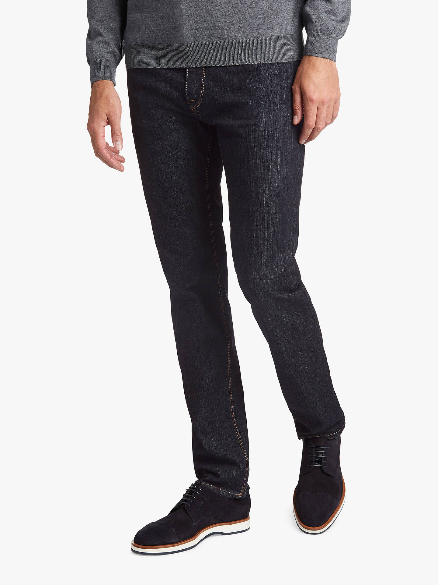 442bbecd4 Buy BOSS Maine Regular Fit Jeans, Navy, 40R Online at johnlewis.com ...
