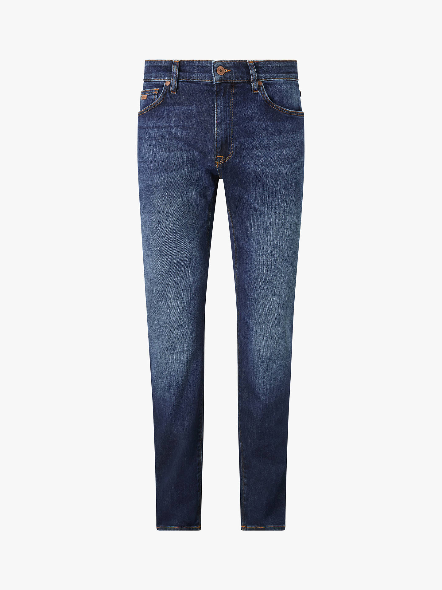 BuyBOSS Maine3 Jeans, Medium Blue, 30R Online at johnlewis.com