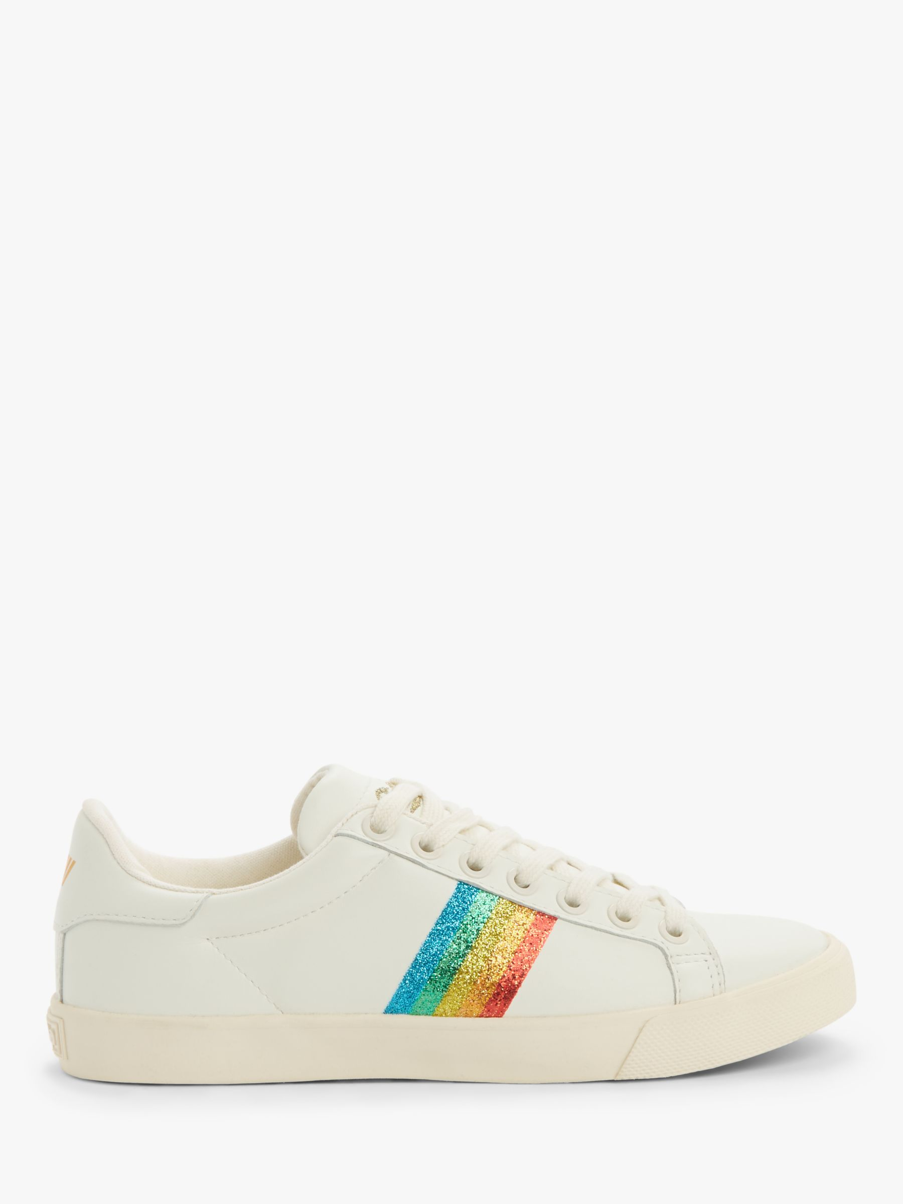 Gola Gola Orchid Rainbow Low Top Trainers, Off White/Multi Glitter