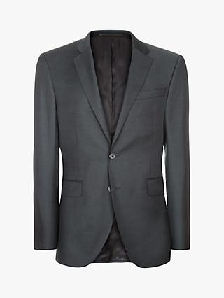 Jaeger Wool Twill Weave Suit Jacket, Charcoal