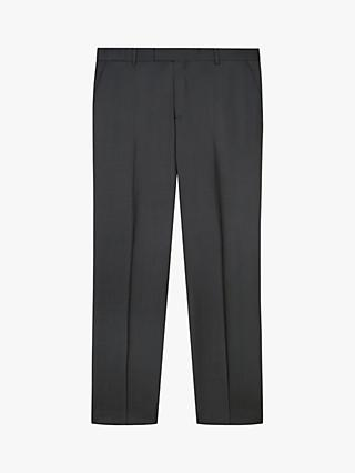 Jaeger Wool Twill Weave Suit Trousers, Charcoal