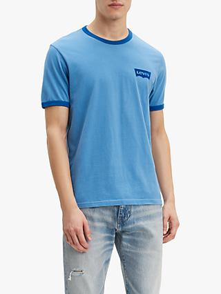 Levi's Ringer Short Sleeve T-Shirt, Parisian/True Blue