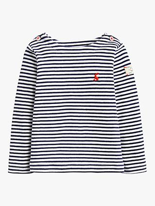 Baby Joule Harbour Stripe Top, Blue/White
