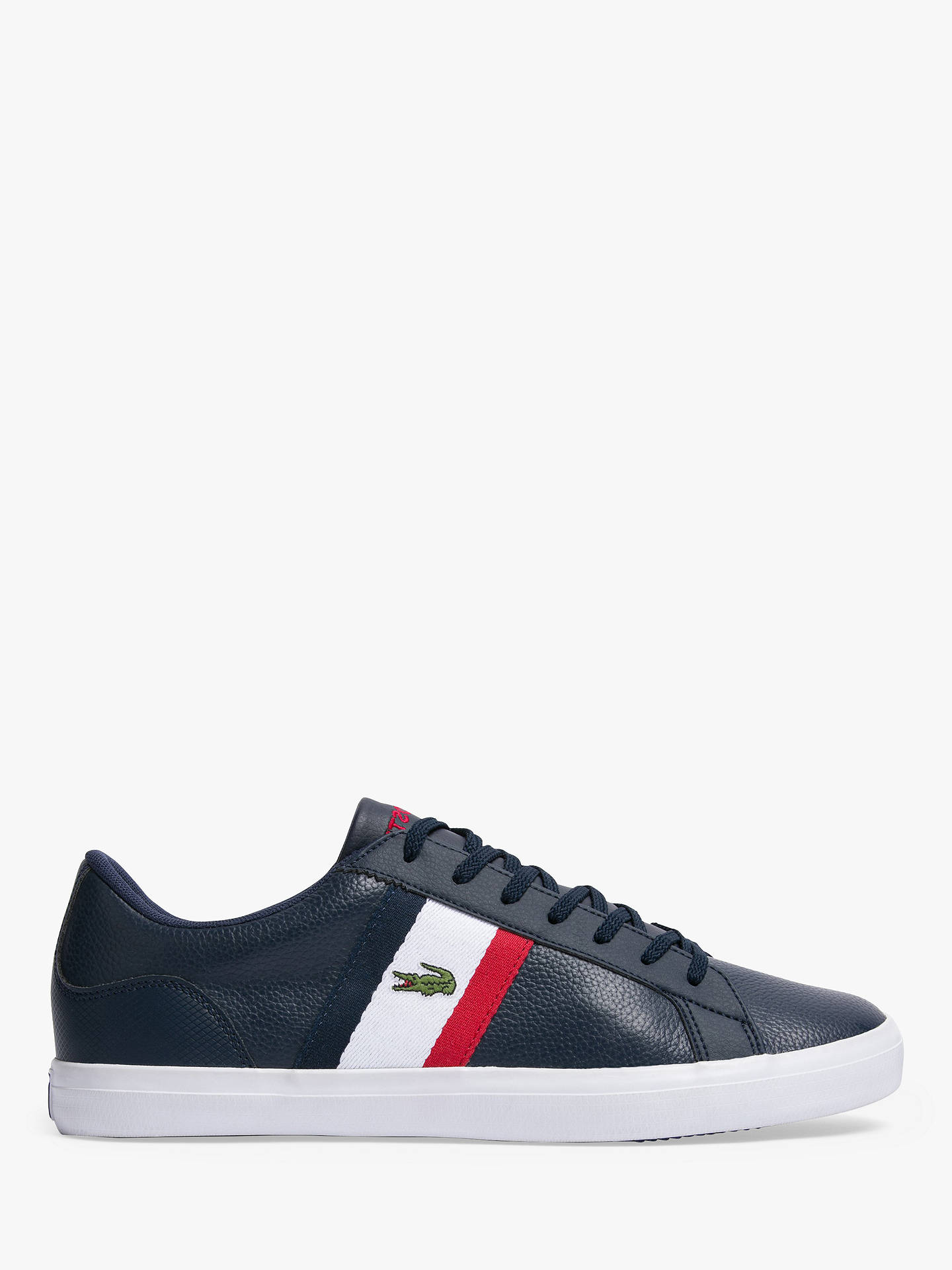 25f3aa54f1 Buy Lacoste Lerond Trainers , Navy, 8 Online at johnlewis.com