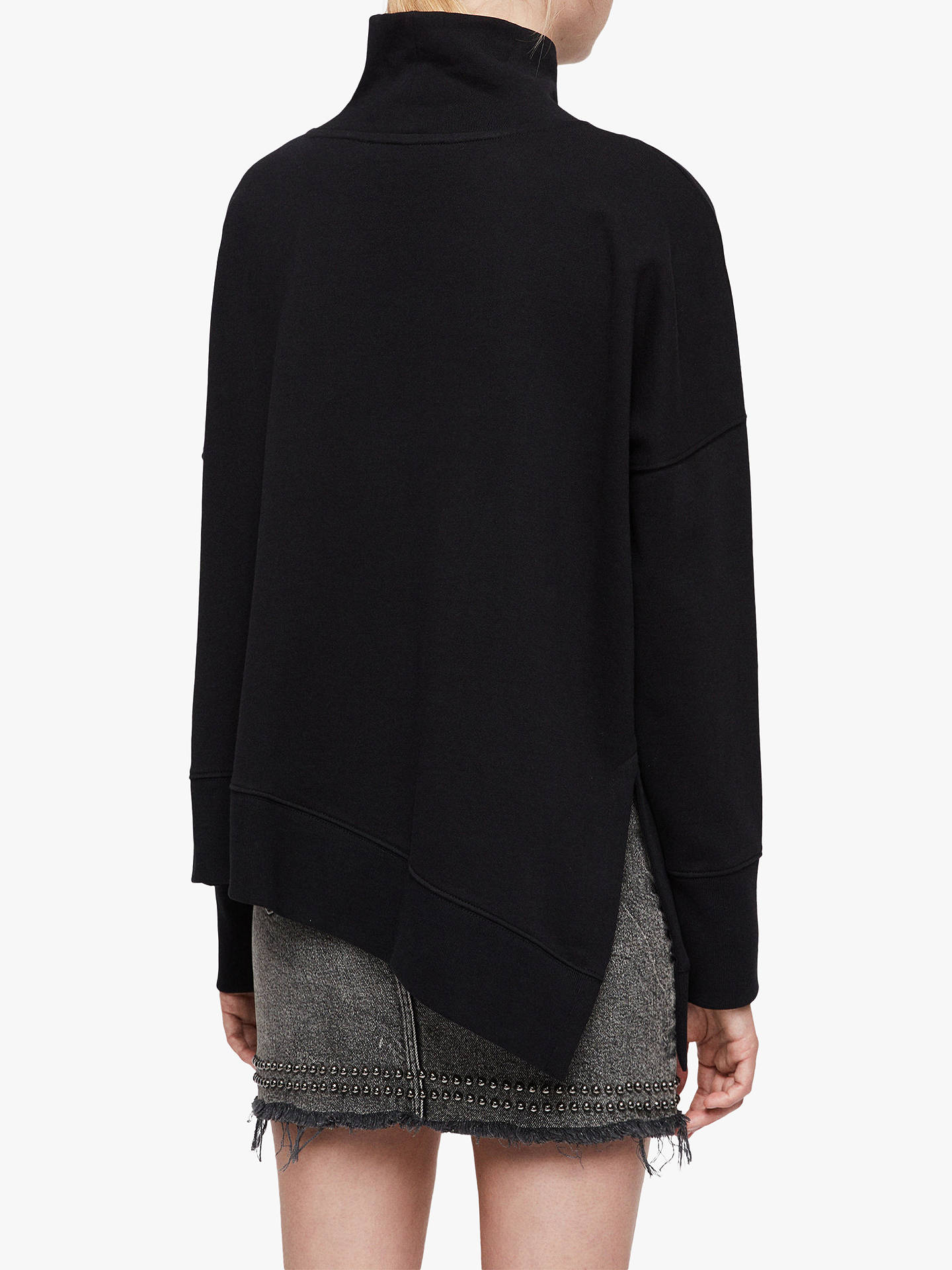 BuyAllSaints Navarre Roll Neck, Black, L Online at johnlewis.com