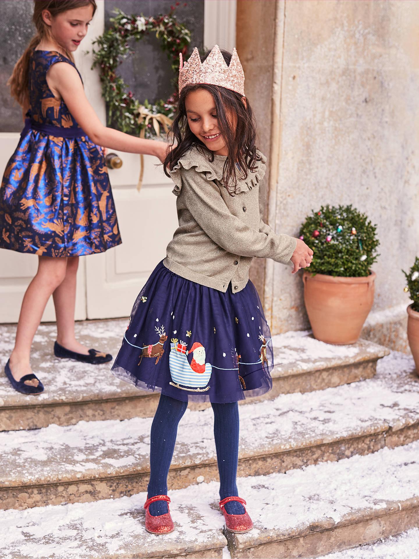 18c134dc4194 Mini Boden Girls  Festive Applique Dress