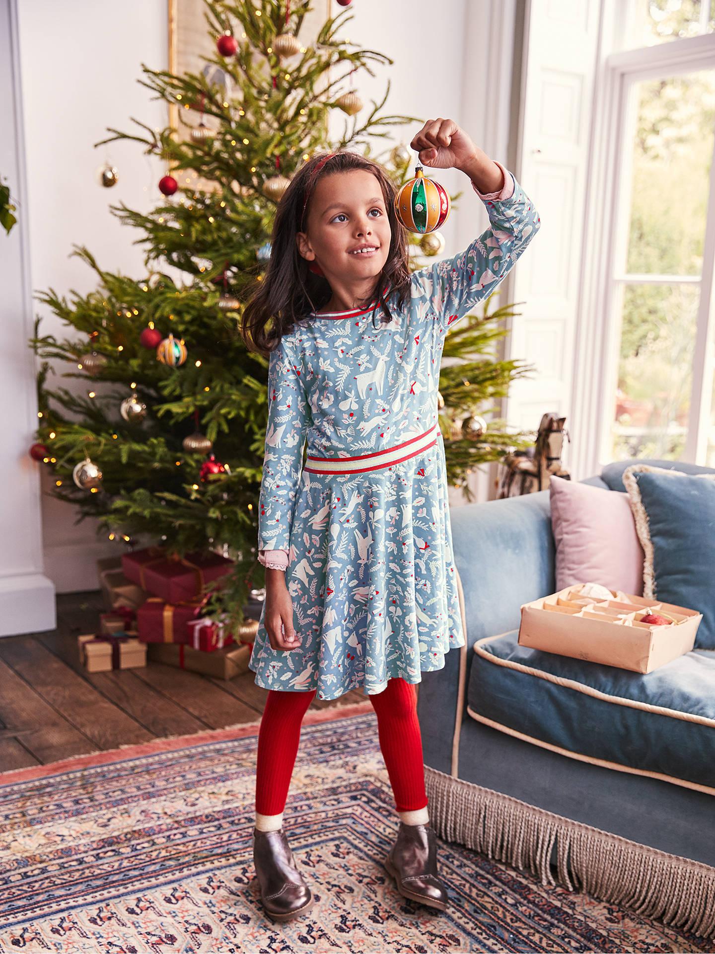 eca69ea52ace9 ... Buy Mini Boden Girls' Woodland Animal Print Jersey Dress, Blue, 11-12