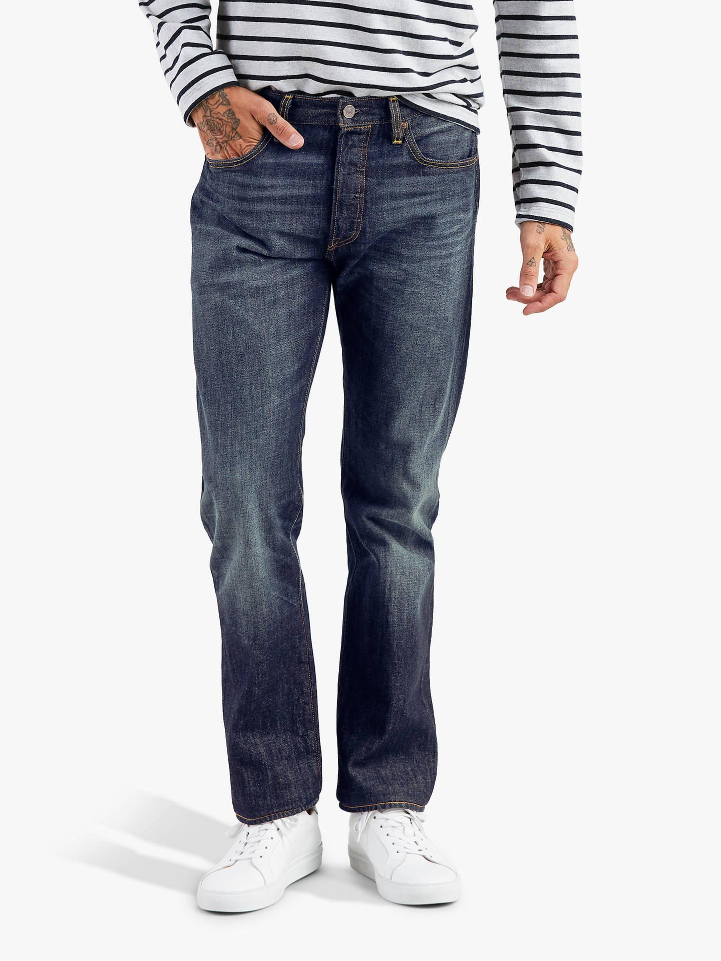 19332f4644b Buy Levi's 501 Original Fit Slim Jeans, Cheviot, 32R Online at johnlewis.  ...
