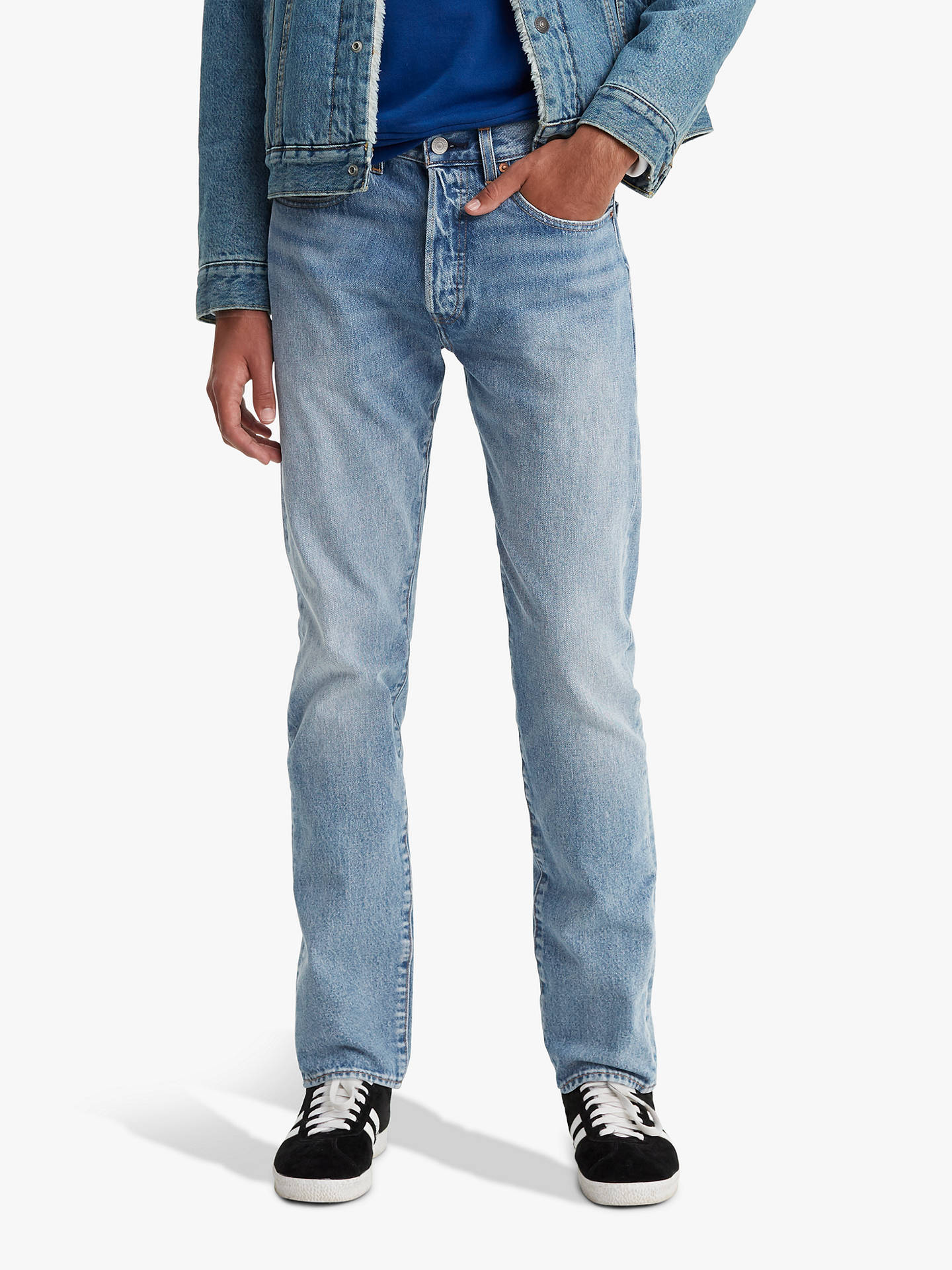 31baaddb0e8 Buy Levi's 501 Slim Tapered Jeans, Revolution Mid, 32S Online at johnlewis.  ...