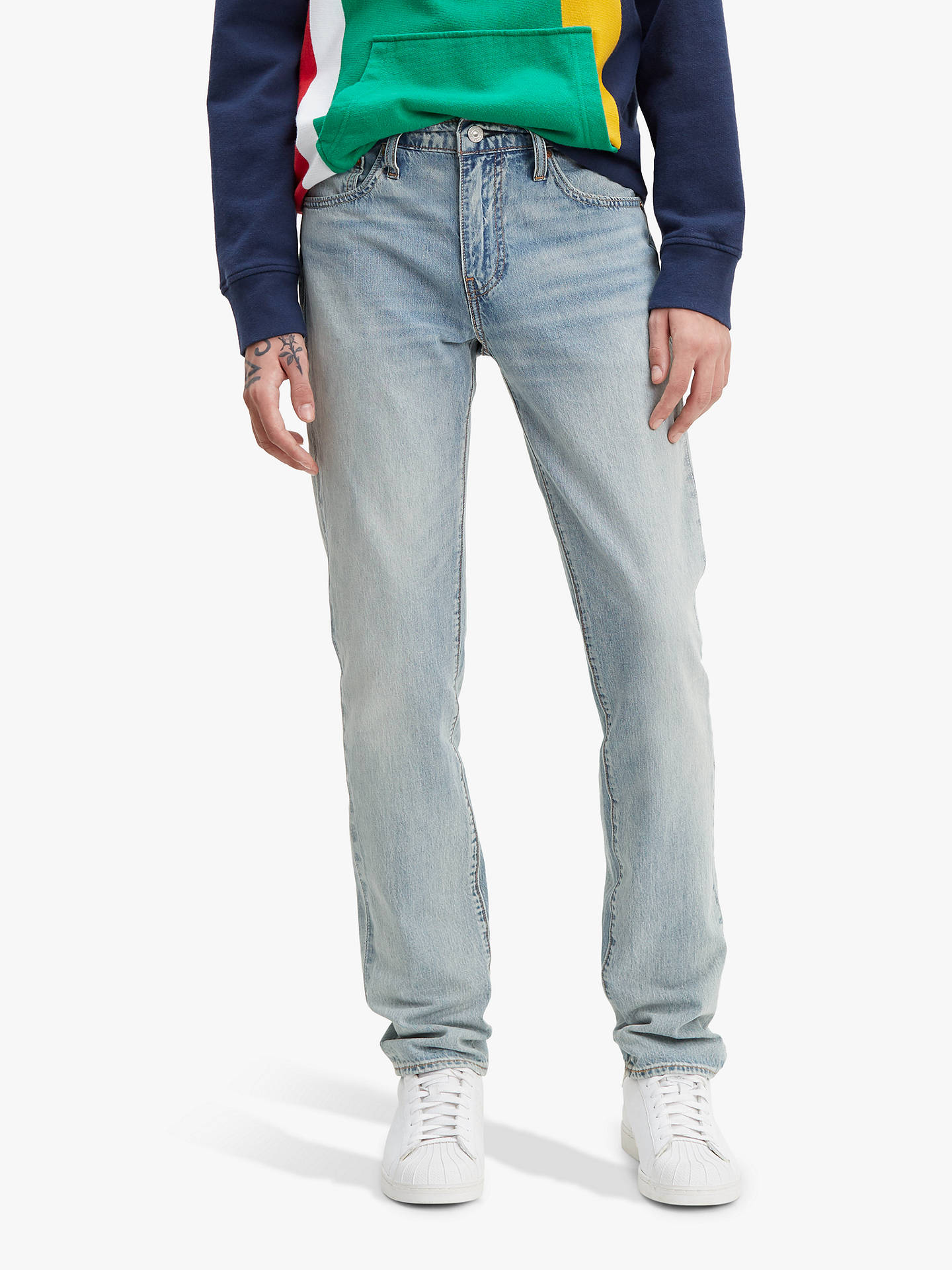 4d2be739e99 Buy Levi's 511 Slim Fit Stretch Cool Jeans, Great White, 32R Online at  johnlewis ...