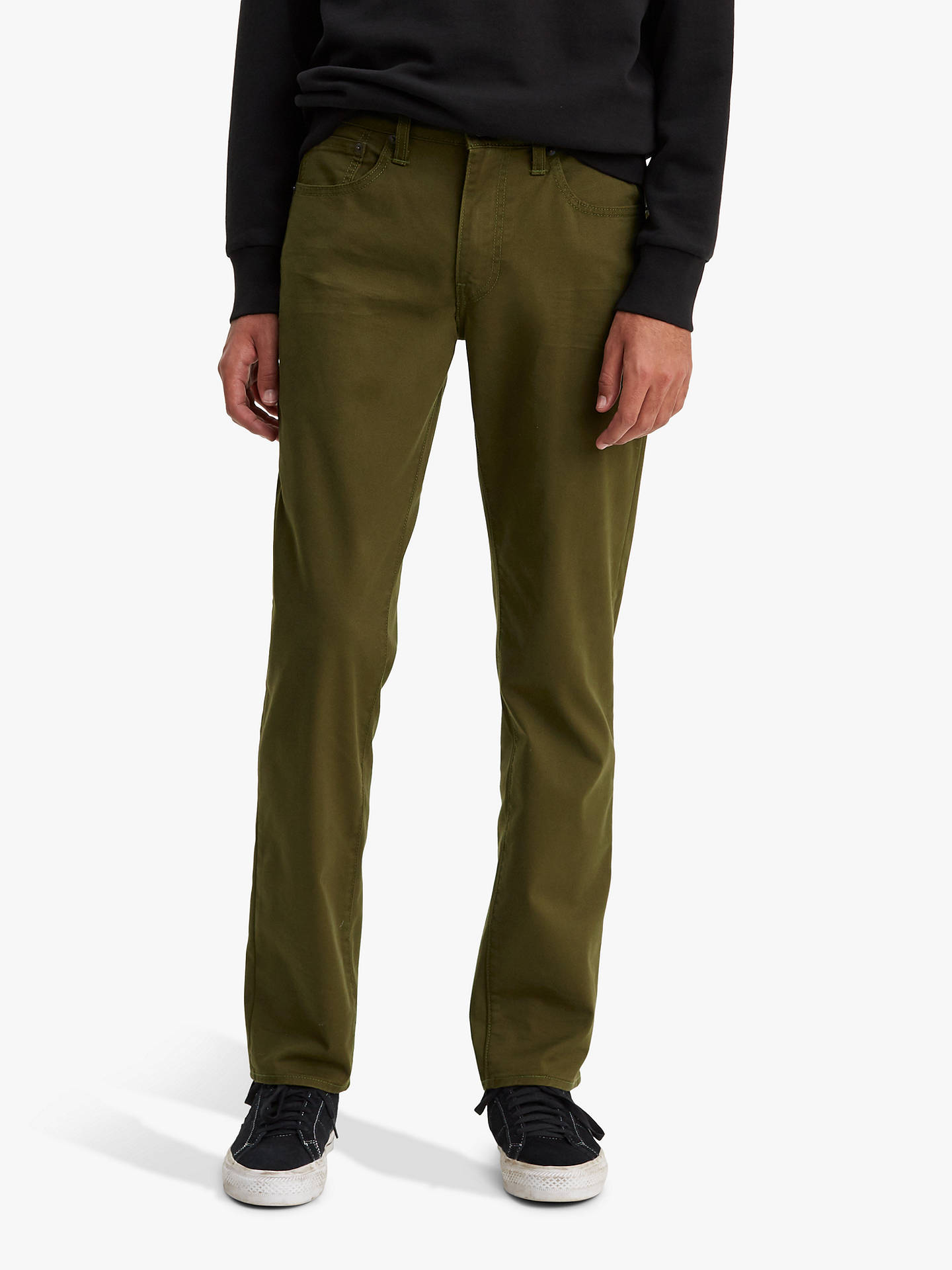 20f52d42 Buy Levi's 511 Slim Fit Bi Stretch Jeans, Foragers Green, 30R Online at  johnlewis ...