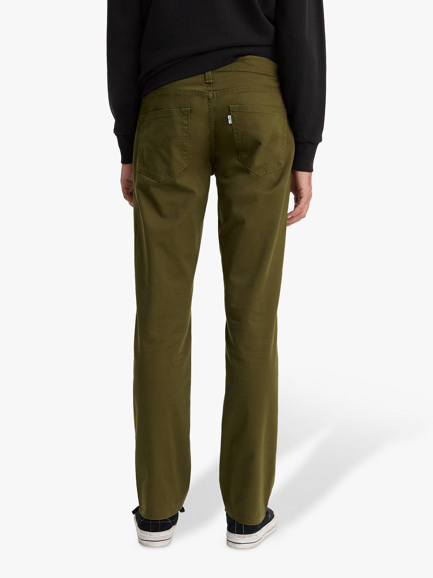 13d49e5a ... Buy Levi's 511 Slim Fit Bi Stretch Jeans, Foragers Green, 32L Online at  johnlewis ...