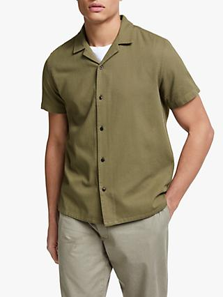 JOHN LEWIS   Co. Cotton Dobby Cuban Collar Shirt c3e22cb53717