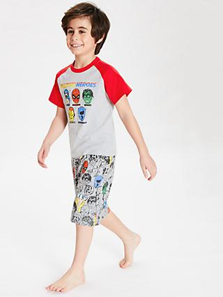 Marvel Boys' Character Print Pyjamas, Grey