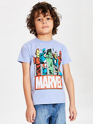 Marvel Boys' Character Print T-Shirt, Blue