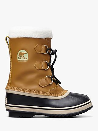 Sorel Children's Yoot Pac Leather Snow Boots, Tan/Masquite