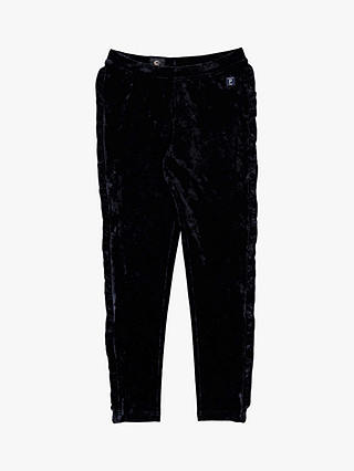 Buy Polarn O. Pyret Children's Velour Trousers, Blue, 4-6 years Online at johnlewis.com