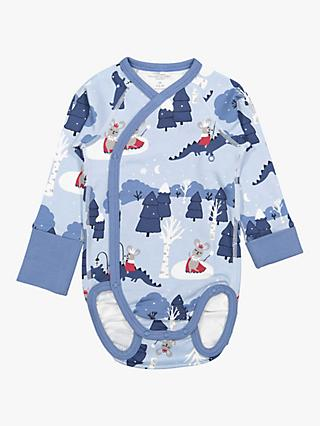 Polarn O. Pyret Baby Winter Wonderland Bodysuit, Blue