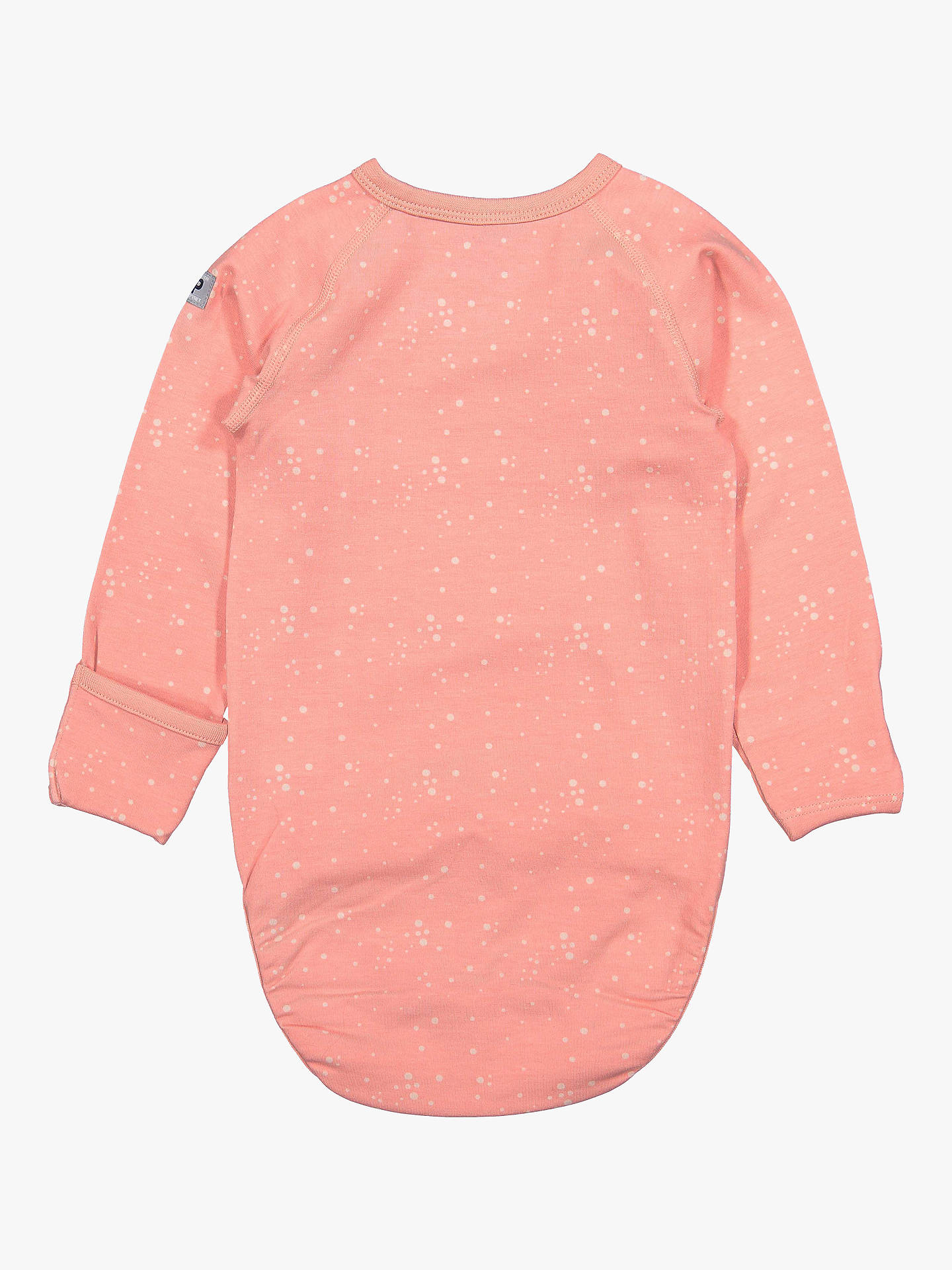 Buy Polarn O. Pyret Baby Bird Bodysuit, Pink, 12-18 months Online at johnlewis.com