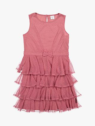 polarn o pyret childrens polka dot tulle dress pink