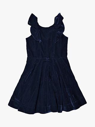 Polarn O. Pyret Girls' Velvet Dress, Blue