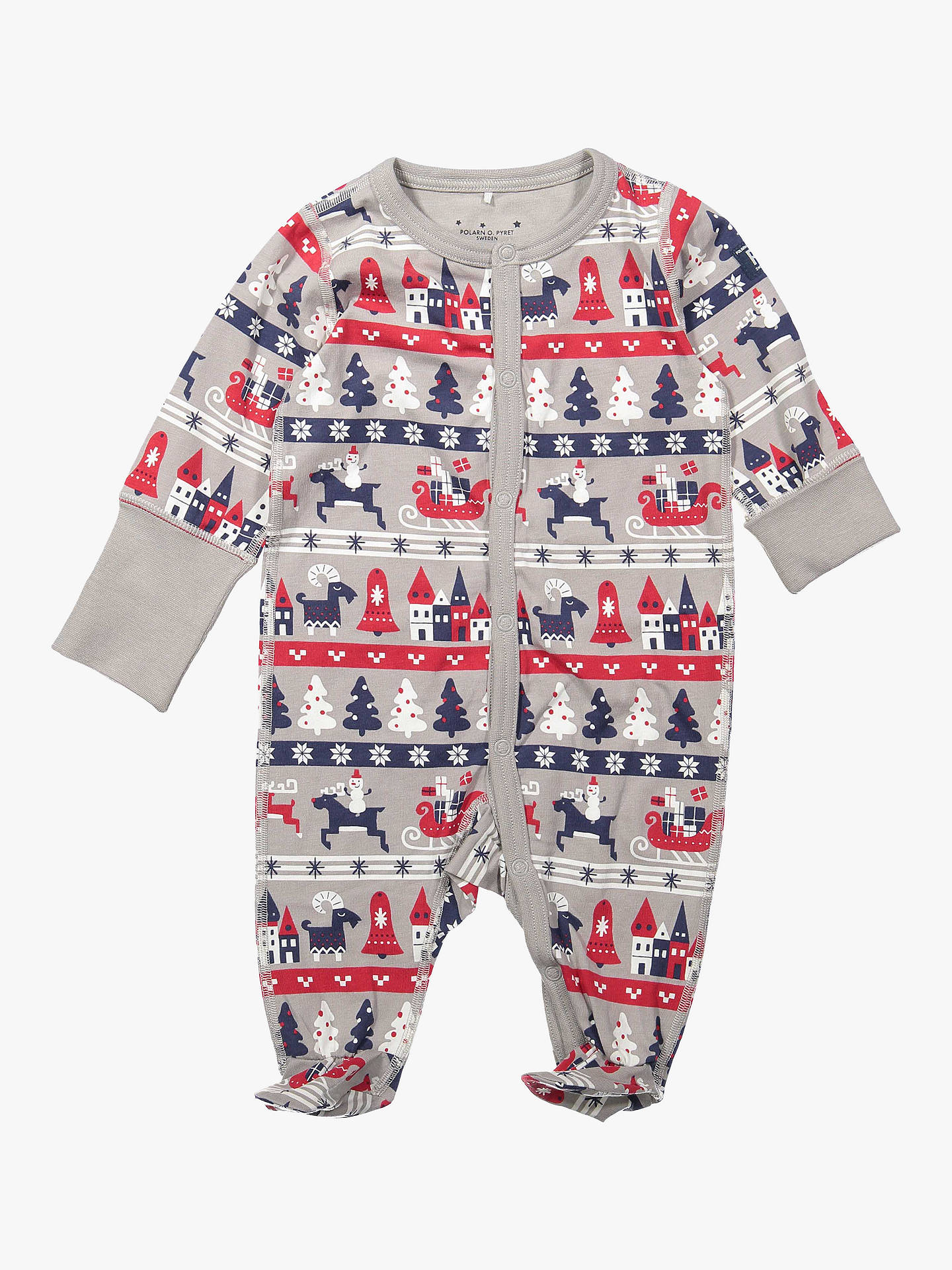 4993d118a Polarn O. Pyret Baby GOTS Organic Cotton Xmas Onesie