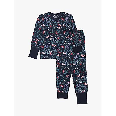 Polarn O. Pyret Baby Floral Pyjama Set, Blue