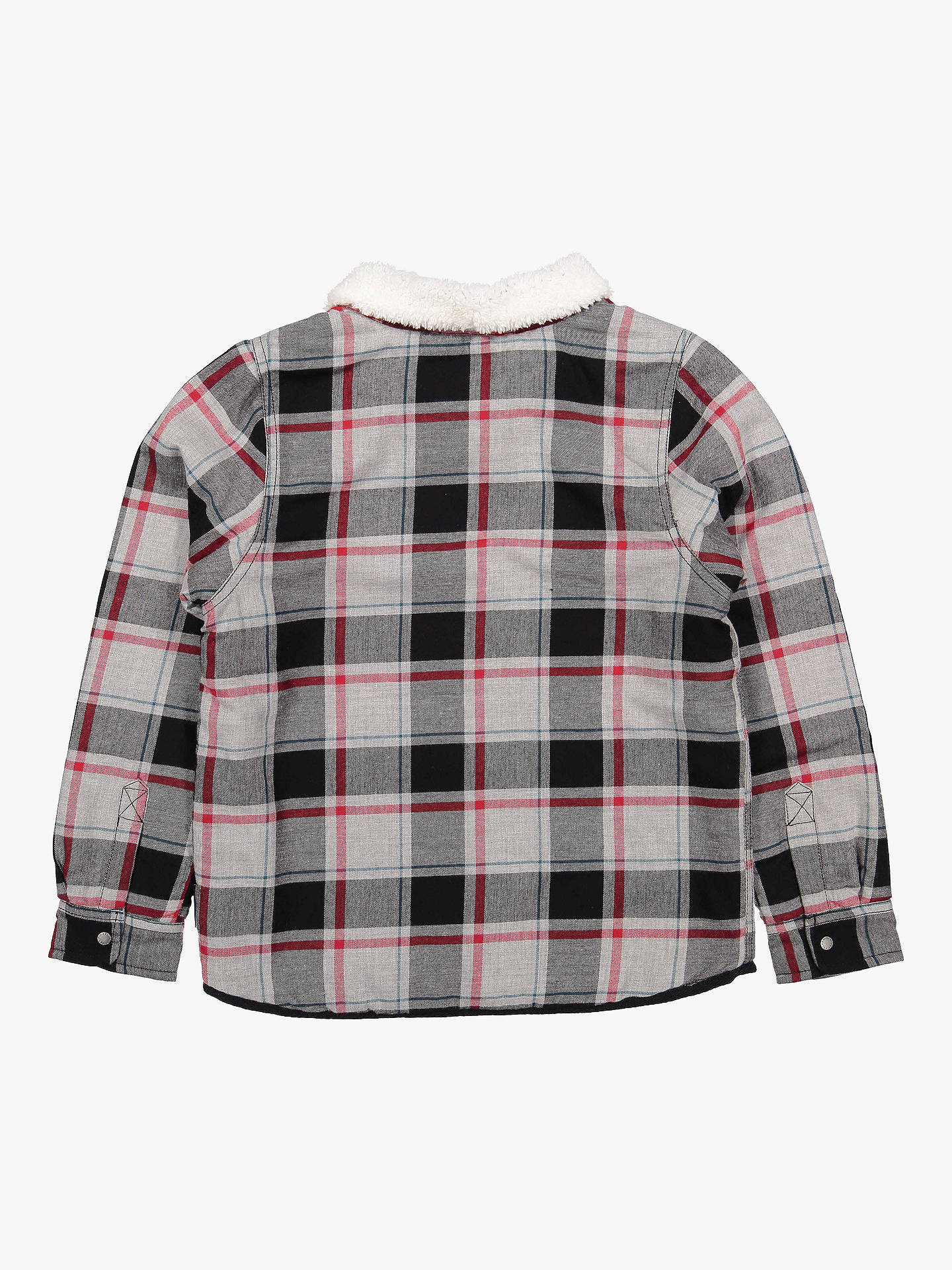 Buy Polarn O. Pyret Children's Fleece Collar Check Shirt, Grey, 4-5 years Online at johnlewis.com