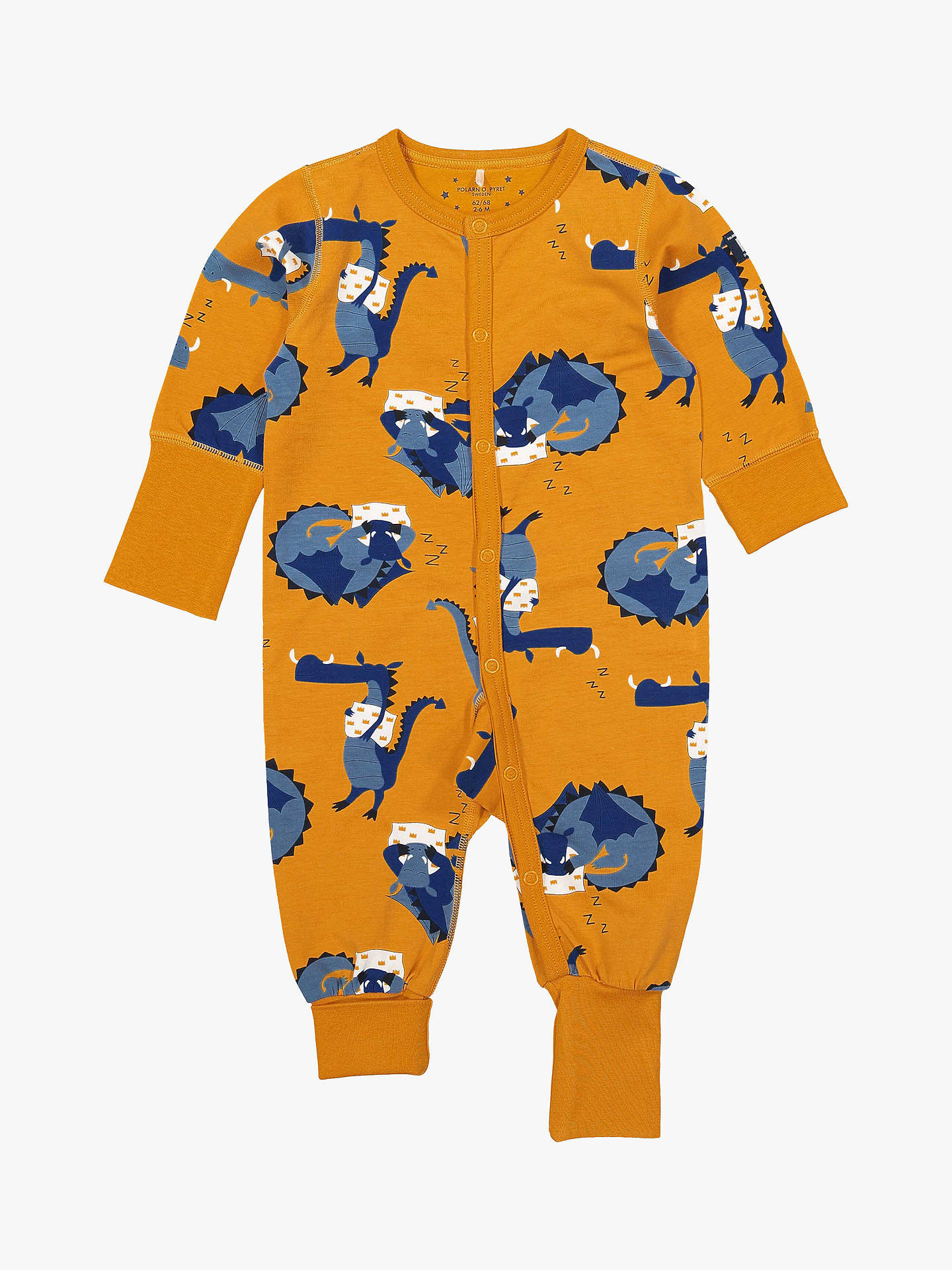 BuyPolarn O. Pyret Children's Dragon Onesie, Yellow, 2-4 years Online at johnlewis.com