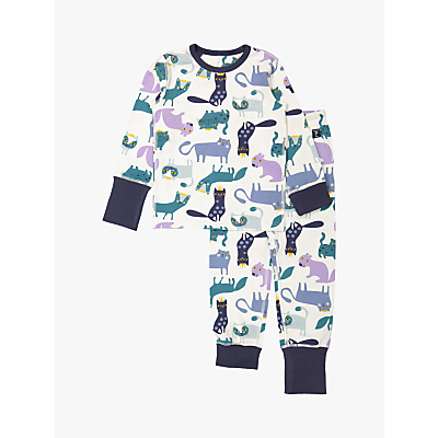 Polarn O. Pyret GOTS Organic Cotton Baby Cat Pyjamas, Neutral
