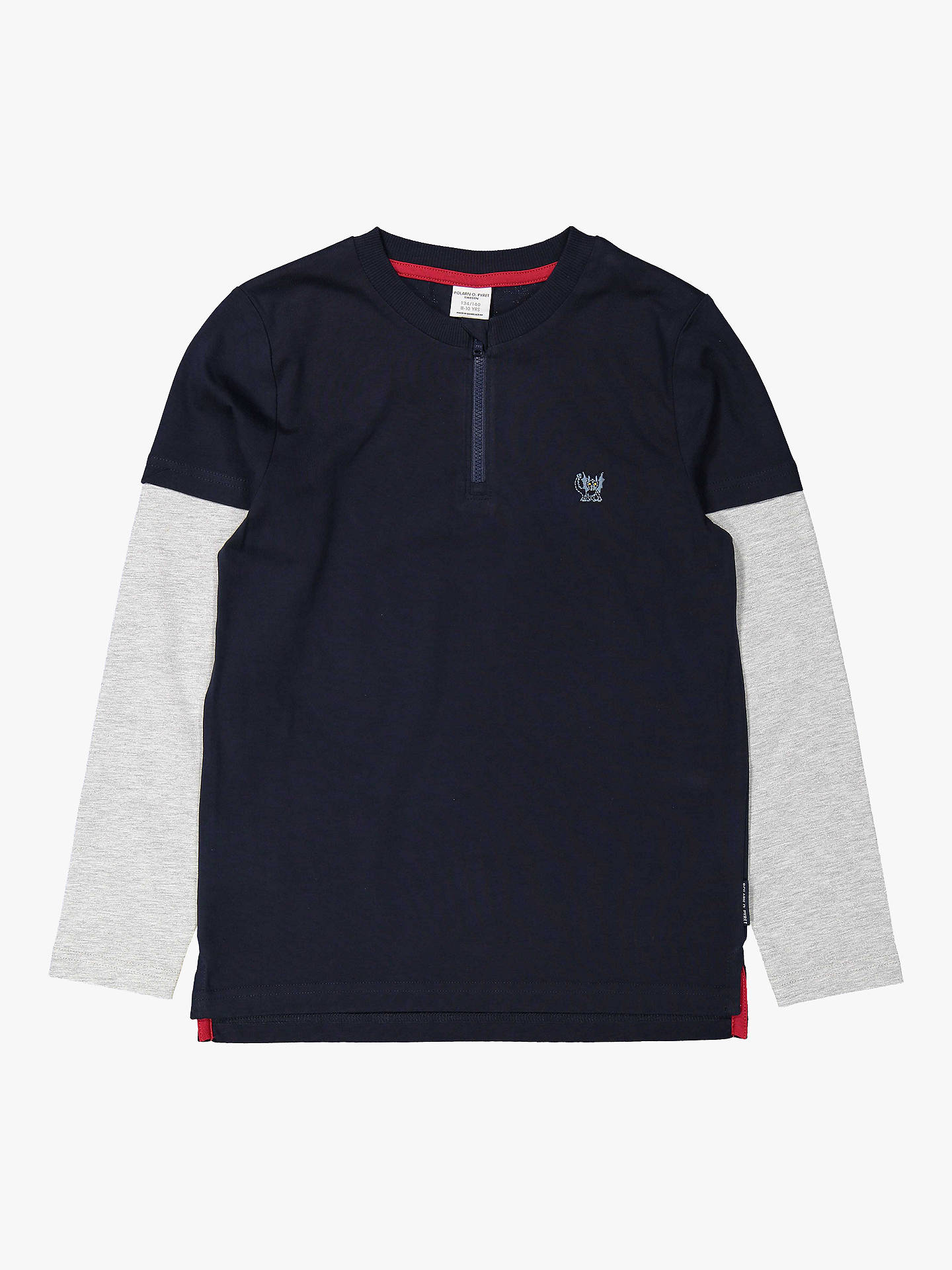 Buy Polarn O. Pyret Children's Zip Top, Blue, 6-8 years Online at johnlewis.com
