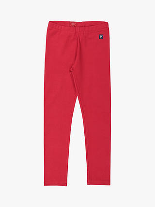 Buy Polarn O. Pyret GOTS Organic Cotton Children's Leggings, Red, 3-4 years Online at johnlewis.com