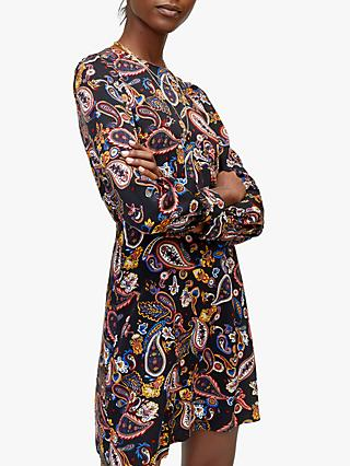 Warehouse Paisley Flippy Dress, Multi