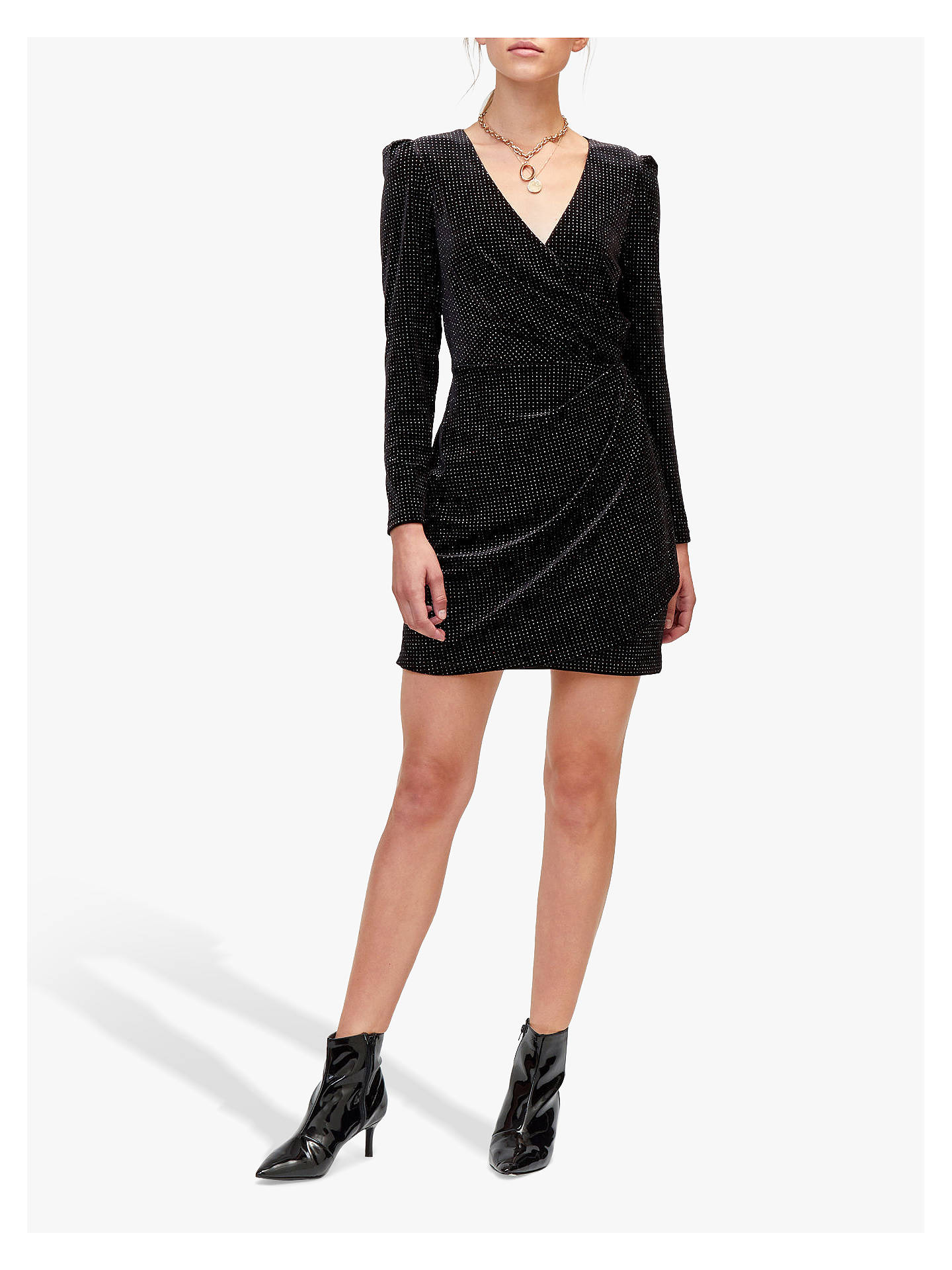 BuyWarehouse Rainbow Hot Dress, Black, 10 Online at johnlewis.com