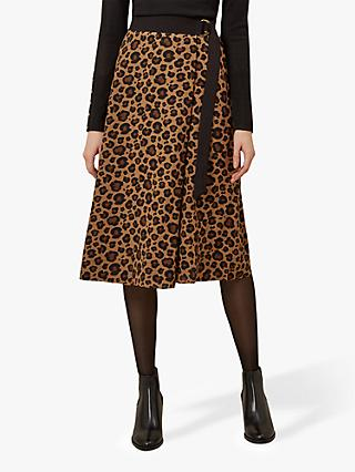 Hobbs Georgiana Animal Print Skirt, Multi