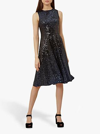 Hobbs Robin Dress, Blue Black