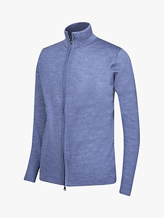 Oscar Jacobson Ariel Merino Full Zip Jumper