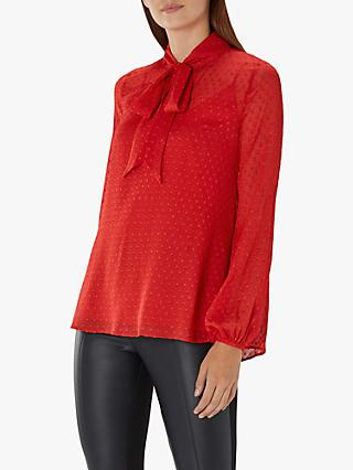 Coast Arlo Pussybow Top, Red