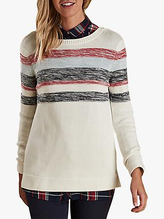 Barbour Skysail Stripe Detail Jumper, Off White
