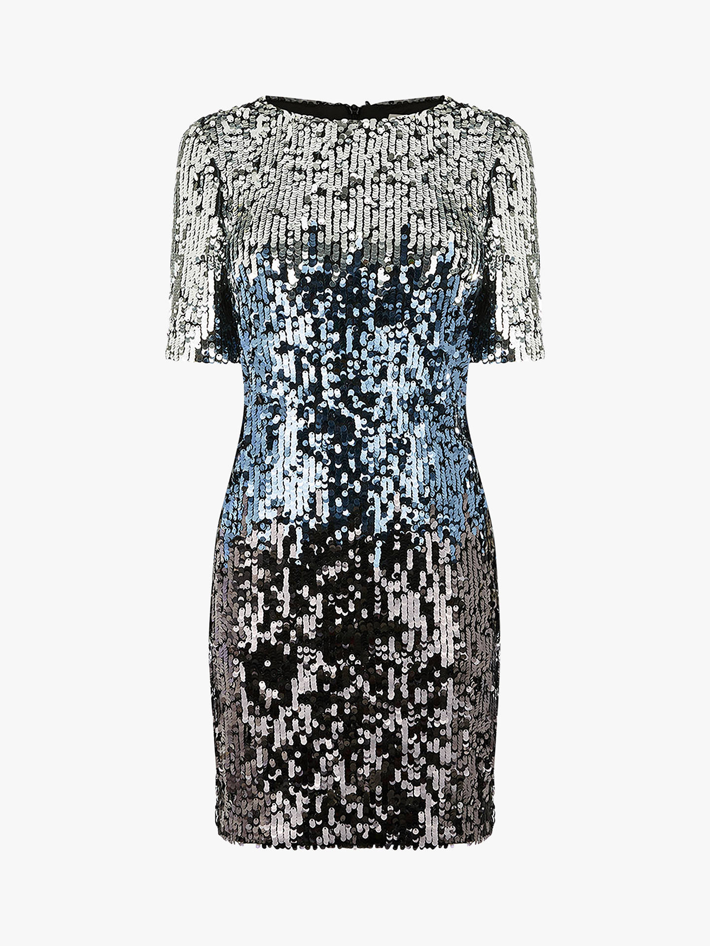 9f9a28c25c2c Buy Oasis Ombre Sequin Shift Dress, Multi/Silver, S Online at johnlewis.