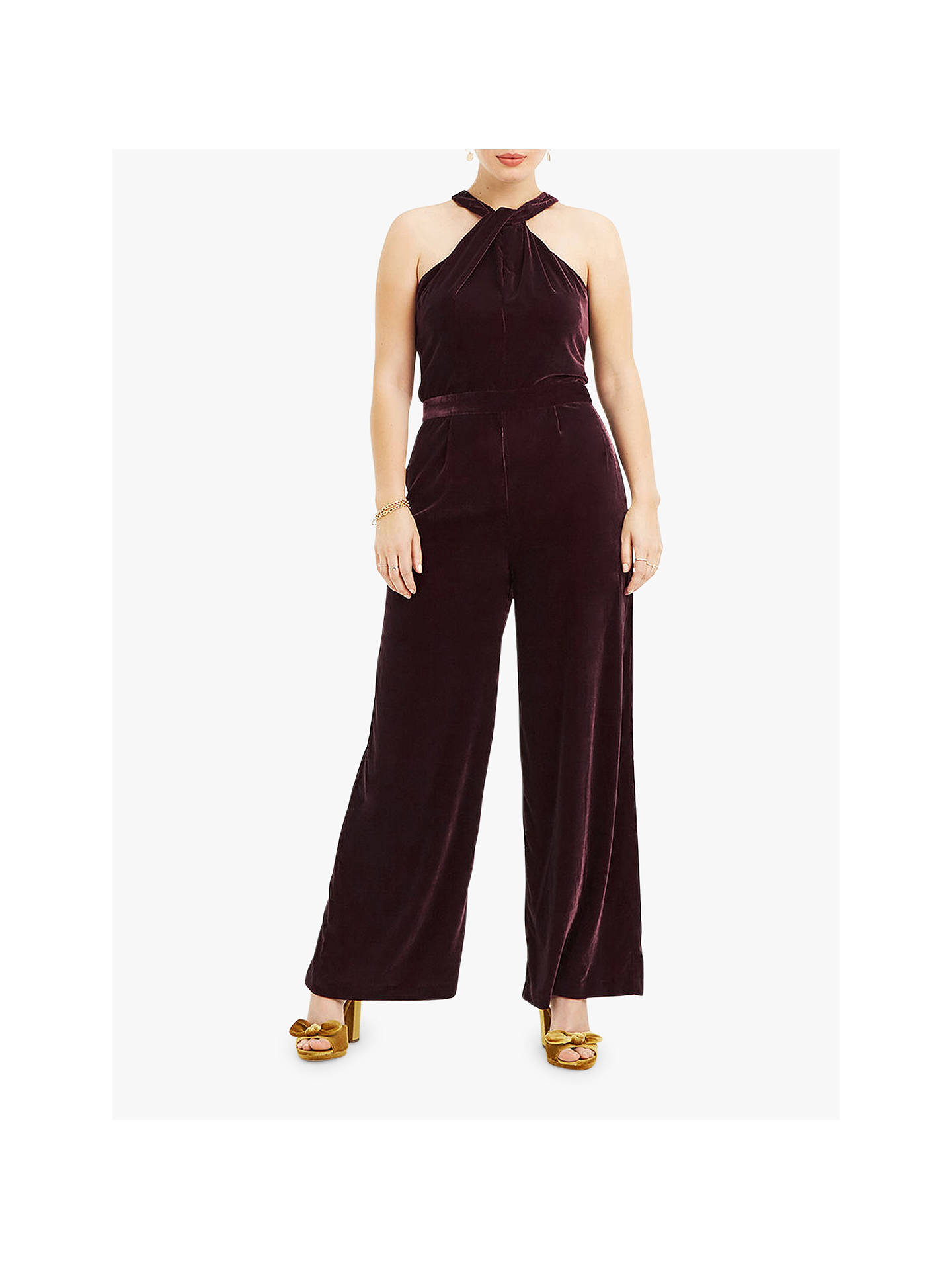 08c6e5775fd Buy Oasis Velvet Twist Jumpsuit
