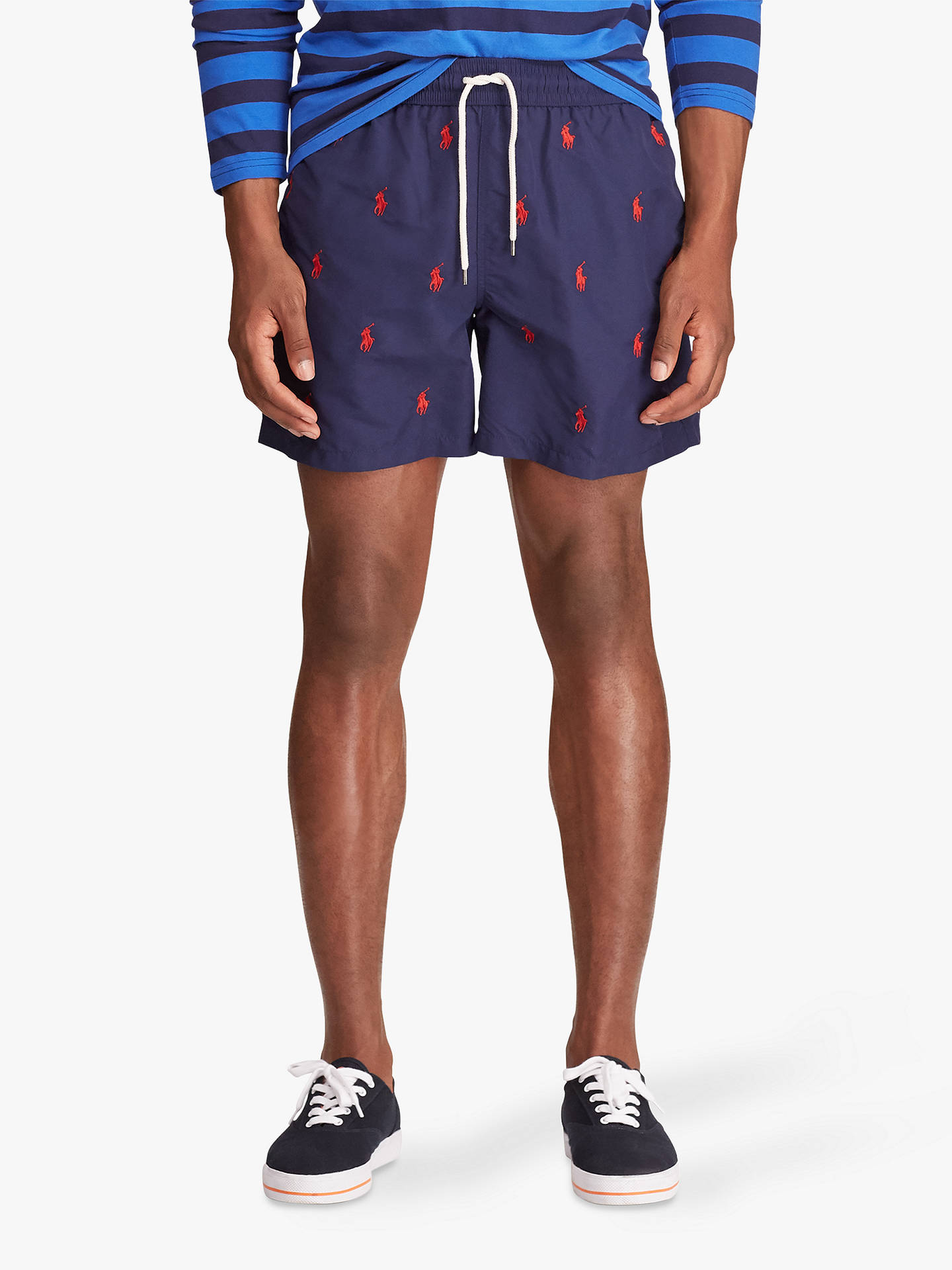 ddfd64edfd Buy Polo Ralph Lauren Pony Embroidery Swim Shorts, Navy, M Online at  johnlewis.
