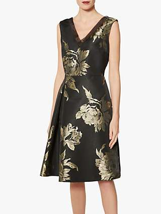 Gina Bacconi Jackie Dress, Black/Gold