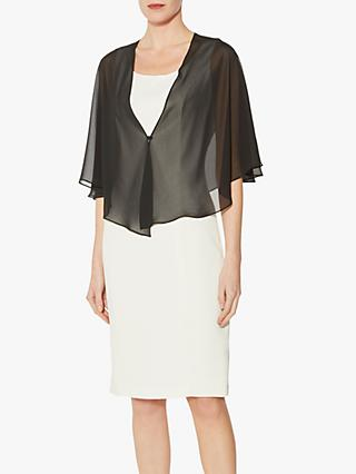 Gina Bacconi Waterfall Chiffon Shawl, Black
